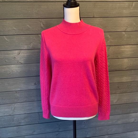 Pendleton pink mock neck sweater size medium